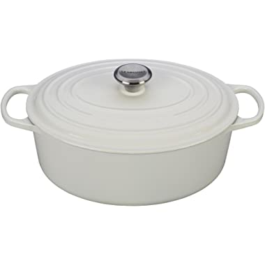 Le Creuset Signature Enameled Cast-Iron 6.75 Quart Oval French (Dutch) Oven, White