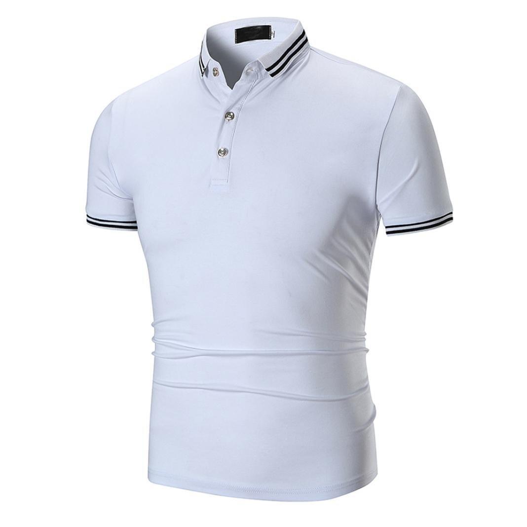 Misaky Men Summer Classice Short Sleeve T-shirt Top Golf Shirt Polo Shirts On Sale