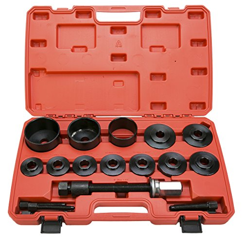 8milelake19pcs Master Kit Front Wheel Hub Drive Bearing Removal Install / Removal Service Tool - Wheel Bearing Hub Removal Tool