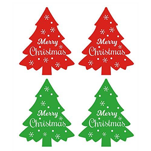 Patterned Envelopes (Merry Christmas Tree Stickers Seals Labels (Pack of 300) - 2.5 X 1.5