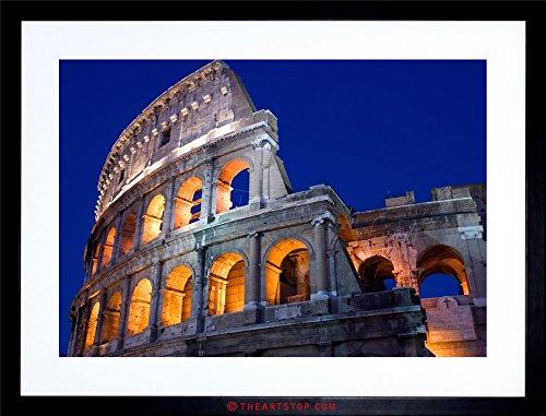 Framed Coliseum (The Art Stop Photo City Landmark Roman Coliseum COLLOSEUM Rome Framed Print F12X6248)