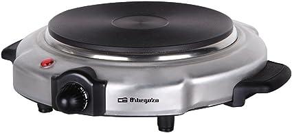 Orbegozo PE2612 - Hornillo eléctrico, 1 placa, inox, 1500 W