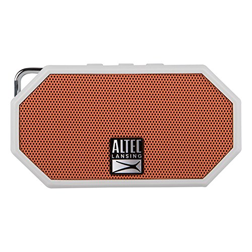 Altec Lansing IMW257 Mini H2O Wireless Bluetooth Waterproof Speaker (White/Orange)