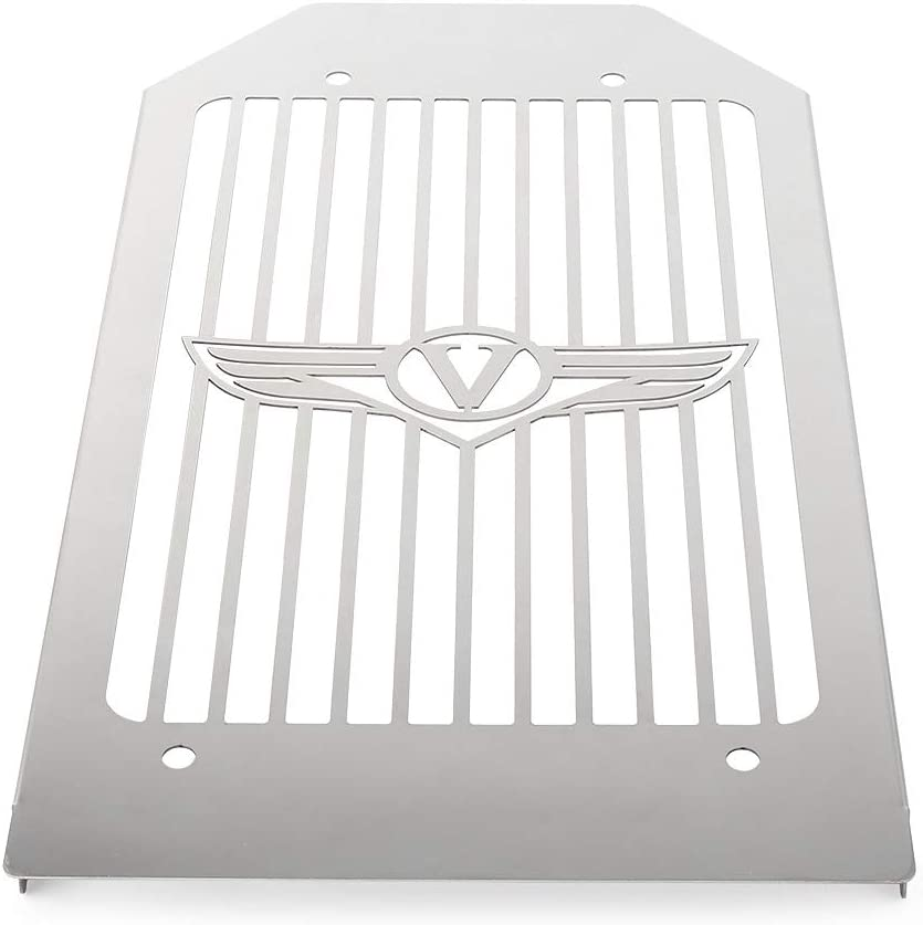 Three T Motorcycle Stainless Steel Radiator Grill Guard Protector Cover Compatible With VN2000 Vulcan 2004-2010 Silver