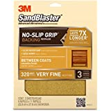 3M SandBlaster Between Coats Sandpaper, 320-Grit, 9-Inch by 11-Inch
