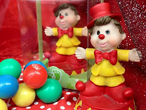 48 Birthday Circus Theme Clown Favor Decoration Cake Topper Party Supplies by onlinepartycenter (Image #3)