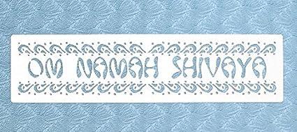 Amazon.com: Stencil by The Bodhi Tribe- Om Namah Shivaya ...