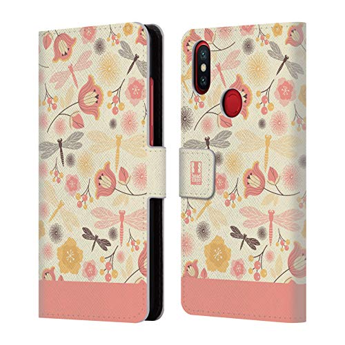 mon Chiffon Dragonflies Leather Book Wallet Case Cover for Xiaomi Mi A2 / Mi 6X ()