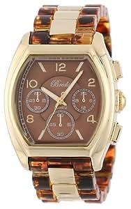 Breda Women's 5176-tortoiseshell Tessa Tonneau Gold Tone Tortoise Bracelet Watch