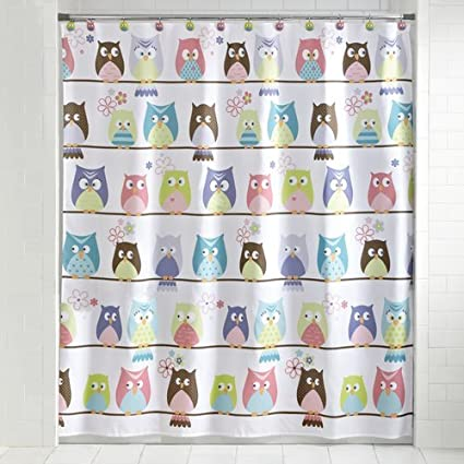 Whooty Hoot Bathroom Accessories Collection Shower Curtain