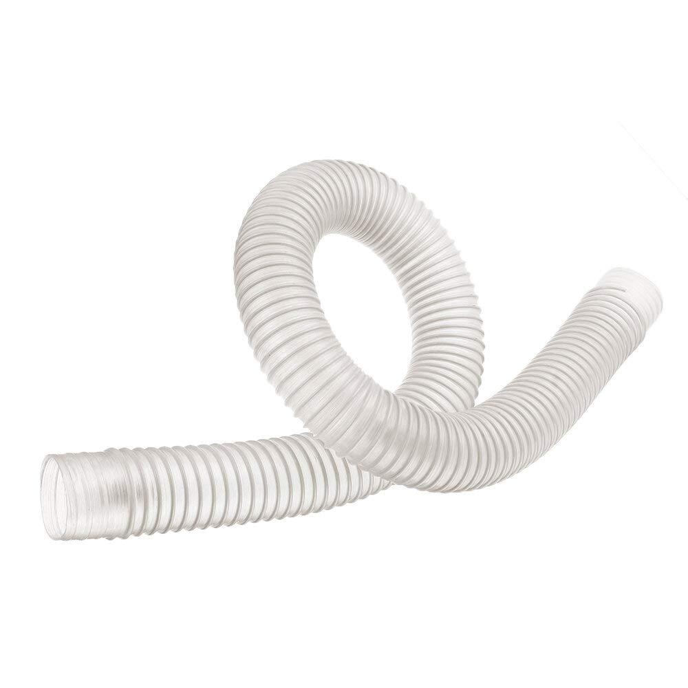 1pc Dia.25-200mm transparent PU Tube statique dissipant polyur/éthane Tuyau aspiration de poussi/ère /à vide Tuyau d/échappement Fum/ée flexible transparent tube- Couleur : 1m , Taille : Dia. 25mm