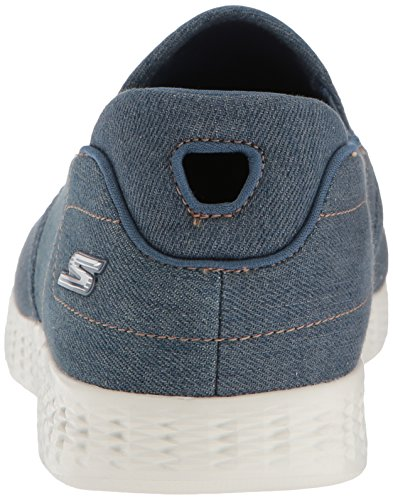 Skechers On-the-go Gevoerde Sneaker-denim Voor Heren