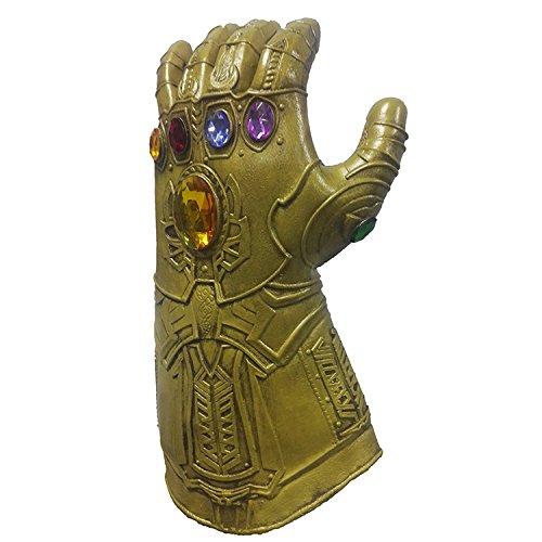 Oside Childrens Superhero Gold Gauntlet Glove Mask Prop Halloween 1:1 by Oside