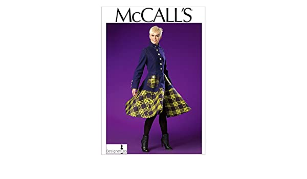 Amazon.com: McCalls Patterns M7025 Misses Coat, E5 (14-16-18-20-22): Arts, Crafts & Sewing