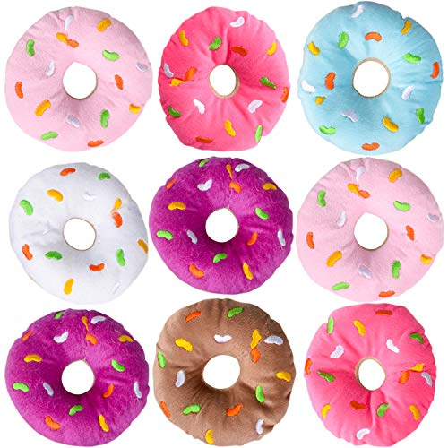 Bedwina Plush Donuts with Sprinkles - (Pack of 12) 1 Dozen Stuffed Donut Pillow Toy Party Favors and Donut Party Supplies Decorations for Kids ()