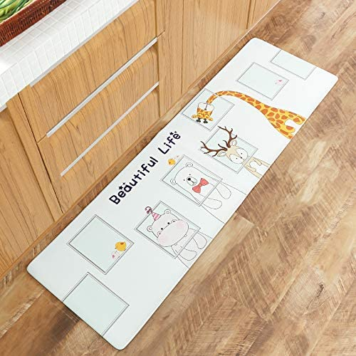 YOMIMAX Waterproof Rubber Backed Mat Anti-Oil Water Proof Rug – Kitchen Dining Living Hallway Bathroom Pet Entry Rugs,Animal 18 60