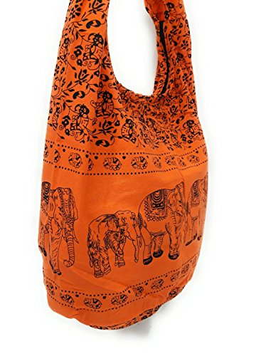 Hippie Orange Dye Boho Shoulder Hobo Tie Bohemian Crossbody Kraft4Life Sling Messenger Bag NEW qXw7tx6