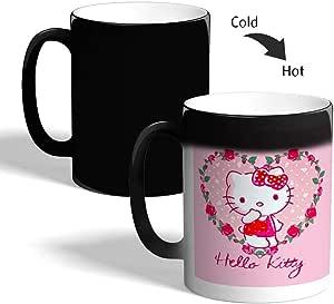 hello kitty Printed Magic Coffee Mug, Black