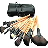 KALDOREI Makeup Brush, 24pcs Professional makeup brush set for makeup and tools with bag (yellow)