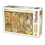 D Toys Puzzle 75901 Mu 12 1000 Pezzi Alphonse Mucha Seasons