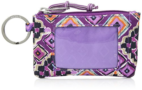 Vera Bradley Lighten up Zip ID Case, Polyester, Dream Diamonds