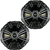 Kicker 40CS674 6-3/4 CS-Series Coaxial Speakers - Pair (Black)