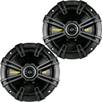 Kicker 40CS674 6-3/4 CS-Series Coaxial Speakers - Pair (Black)
