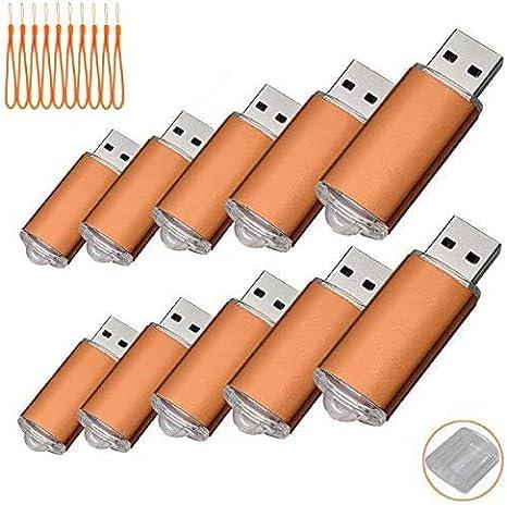 TALLA 512 MB. Paquete con 10memorias USB. Pen Drive USB 2.0 (512.0MB)