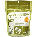 Navitas Naturals Organic Raw Power Cashew Nuts, Vegan, Pack of 24