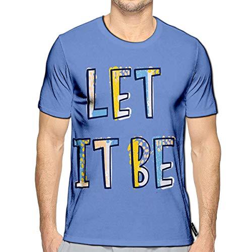 Randell 3D Printed T-Shirts Let It Be Inscription Written Decorative Font Slogan Short S