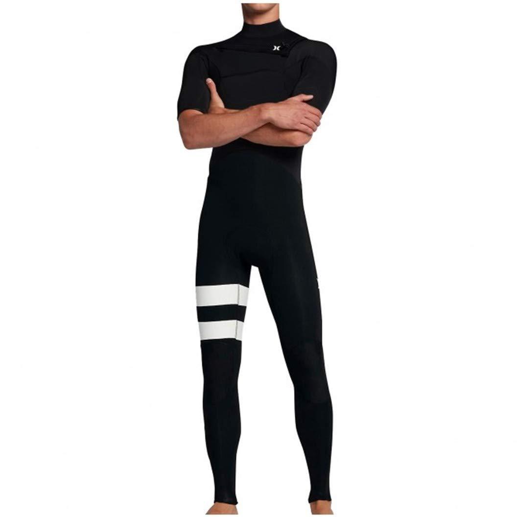 Hurley Men's Advantage Plus 2/2mm Short Sleeve Chest Zip Wetsuit Black)