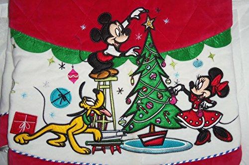 Disney Store Christmas Tree Skirt Minnie Mickey Mouse