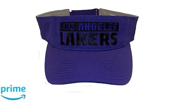 482f09ca6334 Amazon.com: adidas Los Angeles Lakers Adjustable Strap Visor - OSFA ...