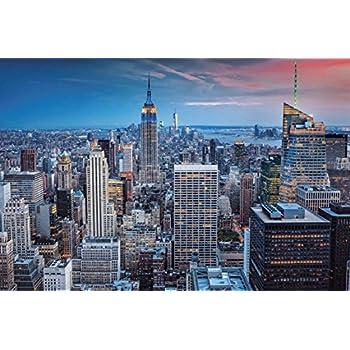 new york city skyline black and white wallpaper mural