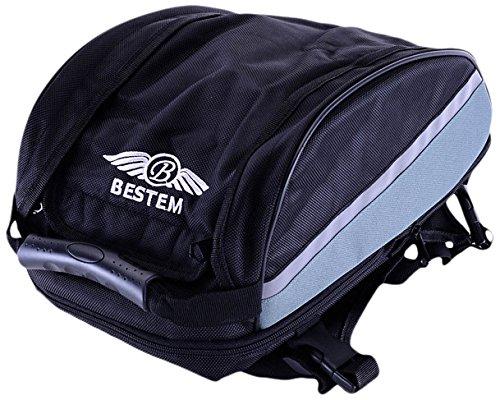 Tail Bag Sportbike (Bestem LGBE-UNIVE-BAG-E Universal Sportbike Expandable Seat Tail Bag)