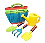 MEALIDIEAN Kids Gardening Tool Set Beach Toy with Tote for Children Outdoor Play ( 5 Pieces )