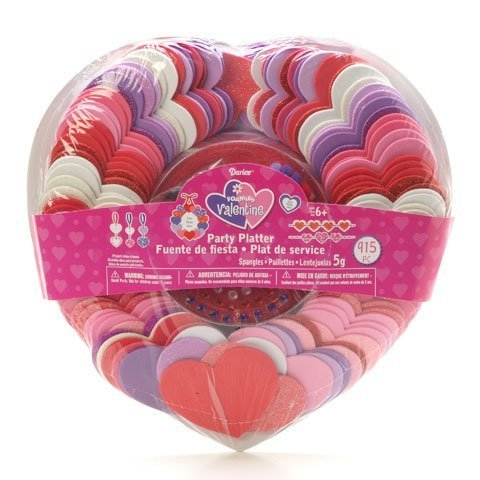 Foamies Valentine's Day Ornament Craft Holiday Party Platter Kit Shapes Include Hearts - 915 Pieces by - Foam Crafts Valentine