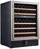 Smith & Hanks RW145DR 46 Bottle Dual Zone Under Counter Wine Fridge Deal (Small Image)