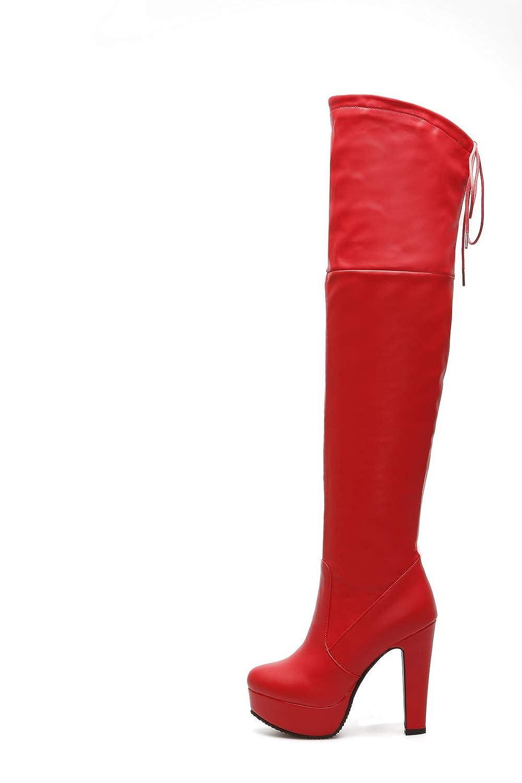 1TO9 Womens Chunky Heels Bandage Platform Urethane Boots MNS03268