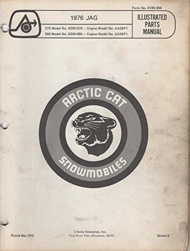 - 1976 ARCTIC CAT SNOWMOBILE JAG PARTS MANUAL P/N 0185-068 (160)