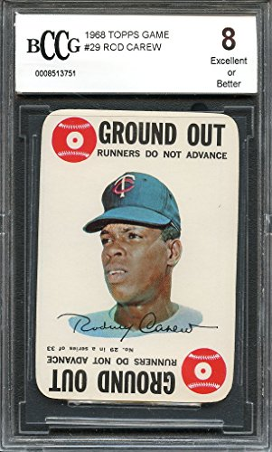 1968 topps game #29 ROD CAREW minnesota twins BGS BCCG 8 Graded - 1968 Game Topps