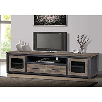Amazon.com: Vintage Rustic TV Entertainment Center Media Console ...