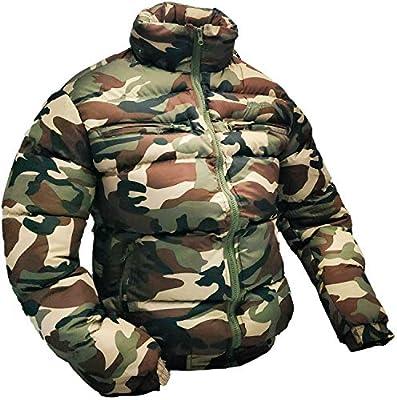 MEIbax Abrigo para Hombre Chaqueta Camuflaje de oto/ño Invierno Caliente Capa Gruesa Cazadoras De Plumas y Copo de Nieve Calor Grueso Manga Larga Chaquetas con Capucha