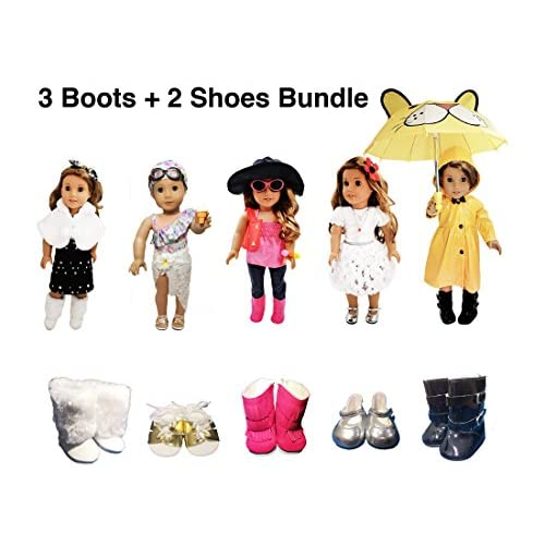 """Our Generation American Girl Journey Girl 18/"""" Dolls Clothes Gold Buckle Boots"""
