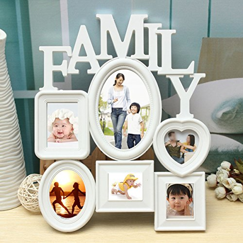 Hiquty Family Picture Frames Photo Frame Wall Hanging Picture Holder Display Home - Review Eyeglasses Tiffany