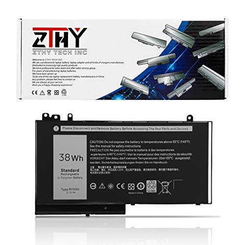 (ZTHY 38Wh 3-Cell RYXXH Laptop Battery Replacement for Dell Latitude E5450 E5550, Latitude 12 5000 E5250, Latitude 11 3150 3160 Series Notebook 9P4D2 YD8XC 5TFCY VVXTW VY9ND R5MD0 11.1V )