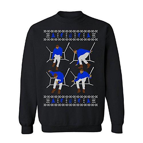 Hotline Bling Drake Dance Unisex Crewneck Ugly Xmas Sweater (4) Sweater Black -