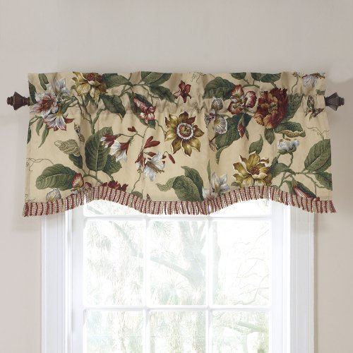 Spring Window (Waverly Laurel Springs Lined Window Valance,50-Inch Wide x 15-Inch Long (127 cm x 38 cm))