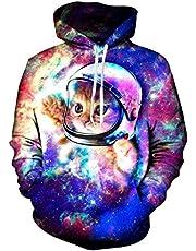 Loveternal Unisex 3D Grafik Print Kordel Tasche Pullover Hoodies Sweatshirt