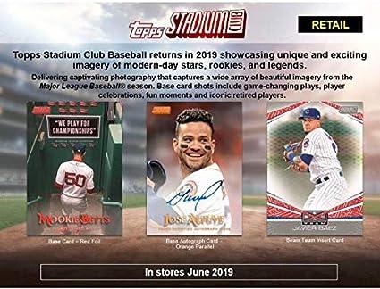 Amazoncom 2019 Topps Stadium Club Baseball Blaster Case 16 Boxes